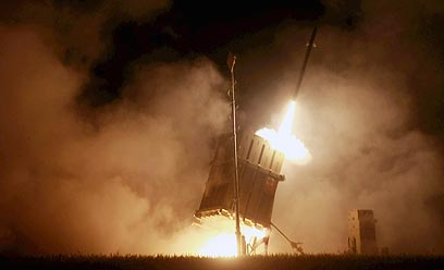 כיפת ברזל בפעולה באזור אשדוד (צילום: יריב כץ, ידיעות אחרונות)