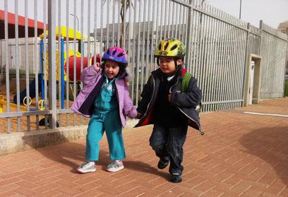 גם באשדוד חזרו ללימודים (צילום: אבי רוקח)