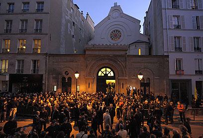 עצרת זיכרון בטולוז (צילום: AFP)
