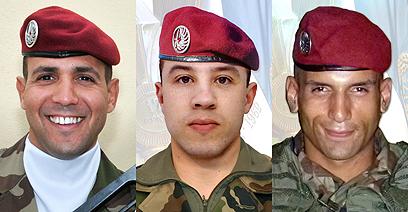שלושת החיילים הצרפתים שנרצחו בשבוע שעבר (צילום: AFP, SIRPA )