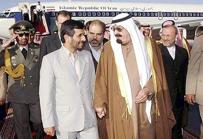ביקור אחמדינג'אד בסעודיה. יחסים, אבל מתוחים (צילום: רויטרס)