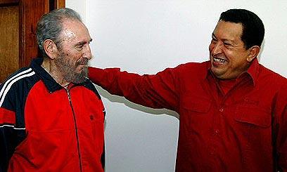 יחד עם פידל קסטרו (צילום: רויטרס)