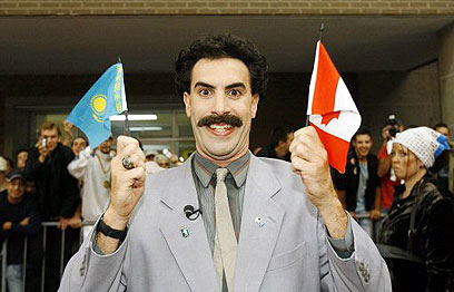 Borat satire turns to farce in toronto for Farcical satire