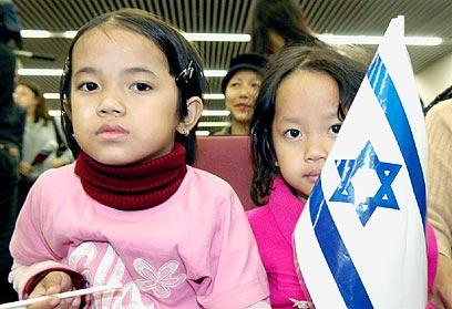 Bnei Menashe olim arrive in Israel (Archive photo: Yaron Brener)
