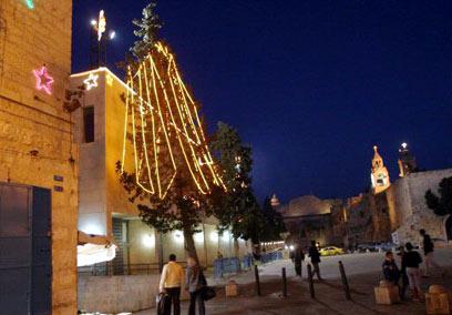 חג המולד בכנסיית המולד (צילום: איי אף פי)