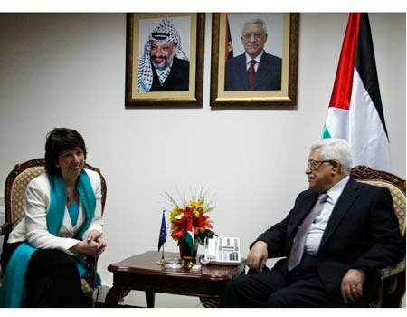Catherine Ashton in the Muqataa - 17 March 2010