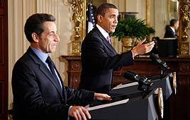 US President Barack Obama and French President Nicolas Sarkozy (Photo: Reuters)