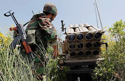 משגרי רקטות בלבנון. קצב ההתחמשות הגדול בעולם (צילום: AP)
