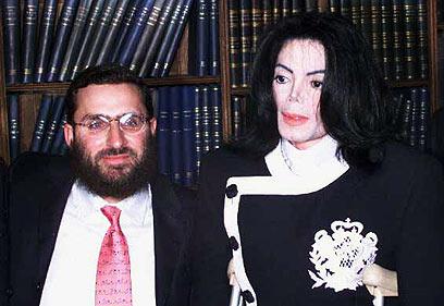 הרב בוטח עם מייקל ג'קסון, חבר שהלך לעולמו (צילום: Getty Images imagebank)