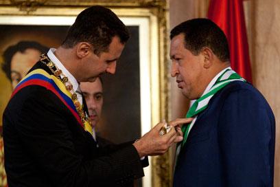 ייפגשו בקרוב בוונצואלה? צ'אבס ואסד (צילום: רויטרס)