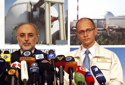השתתף בטקס החיבור של הכור. שר החוץ של איראן עלי אכבר סאלחי (צילום: רויטרס)