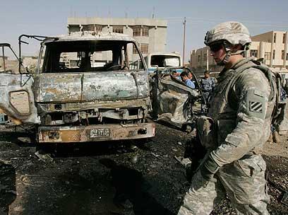 חשופים בזמן נסיגה? הכוחות האמריקנים בעיראק (צילום: רויטרס)