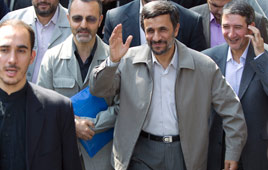 Iranian President Mahmoud Ahmadinejad on Friday (Photo: Reuters)