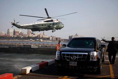 1 מ-28 המסוקים הנשיאותיים. בעל אמצעים נגד טילים (צילום: רויטרס)