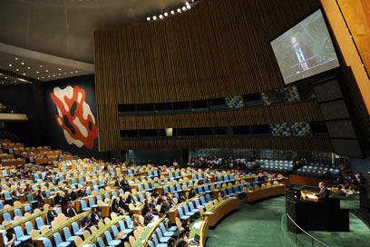 """העצרת הכללית של האו""""ם. מאמצים של הרגע האחרון (צילום: שחר עזרן)"""