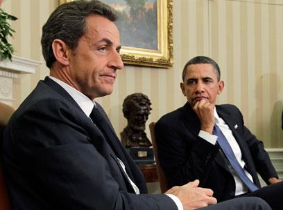 אובמה ונשיא צרפת לשעבר סרקוזי. בזבזו זמן (צילום: AP)