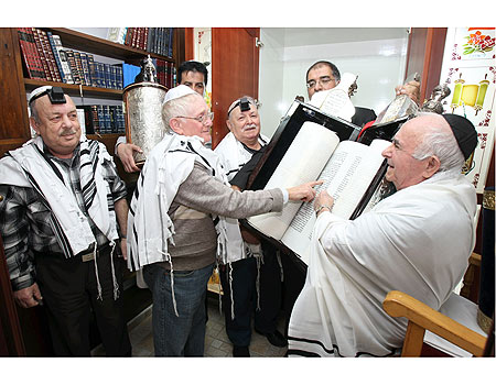 Older People celebrating bar mitzvah in Israel