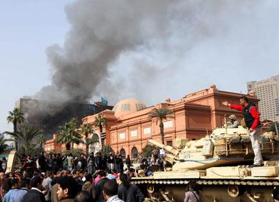 """""""עצורים הוחזקו במוזיאון ועברו בו עינויים לפני שהועברו לבתי הסוהר הצבאיים"""" (צילום: AFP)"""