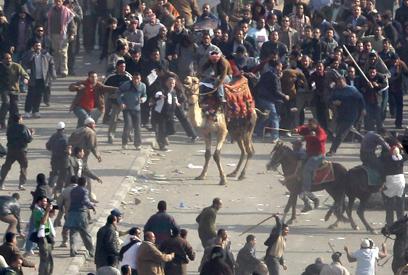הרשויות סירבו לחקור למרות העדויות הרבות. אלימות בכיכר תחריר בקהיר (צילום: AP)