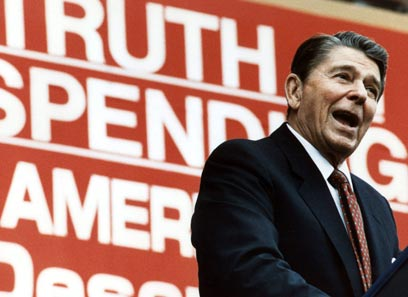 רייגן. הפר את החוק כדי לשחרר שבויים (צילום: AFP)