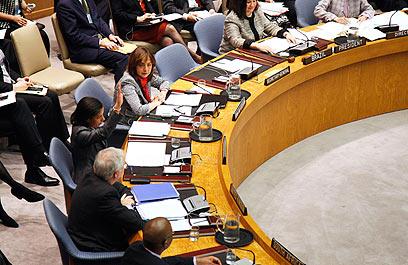 הווטו האמריקני על הפנייה הפלסטינית במועצת הביטחון בשנה שעברה (צילום: AFP)