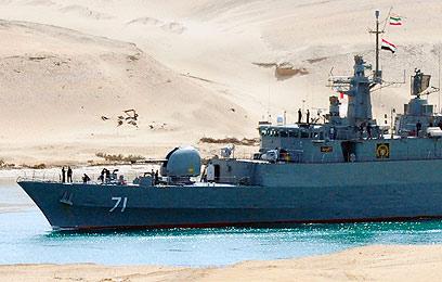 ספינה איראנית בתעלת סואץ בשנה שעברה (צילום: רויטרס)