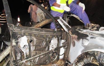 """כלי הרכב המפויח שהופצץ לכאורה אשתקד ע""""י ישראל (צילום: מתוך הטלוויזיה הסודנית)"""