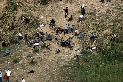 """העימותים בין צה""""ל לסורים סמוך למג'דל שמס בשנה שעברה (צילום: ג'ורג' גינסברג)"""