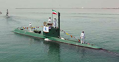 צוללת איראנית (ארכיון). לא נופלות מהצוללות במערב