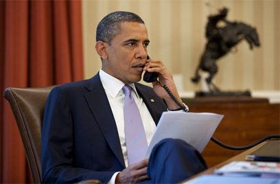 """בשנת בחירות הוא זקוק לרוס מול יהודי ארה""""ב. אובמה (צילום: פיט סאוזה, הבית הלבן)"""