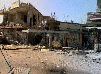ההריסות באל-קוסייר, השבוע (צילום: AFP)