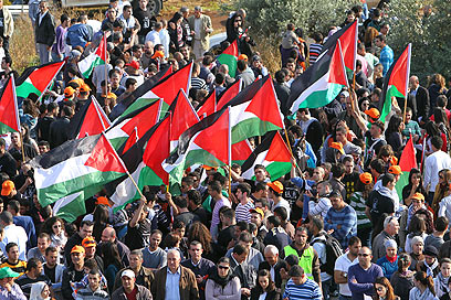 אלפי ערבים ישראלים הפגינו בדיר חנא (צילום: חגי אהרון)