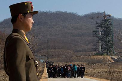 הטיל ששיגורו כשל, בתחילת השבוע (צילום: AP)