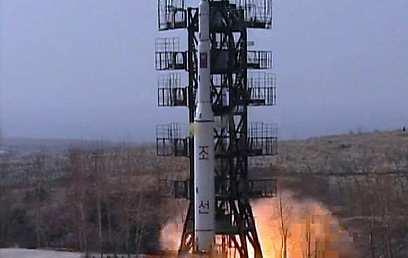 הטיל ששוגר ב-2009 (צילום: EPA)