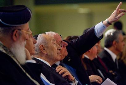 """הנשיא פרס ויו""""ר הכנסת ראובן ריבלין בטקס """"לכל איש יש שם"""" (צילום: אוהד צויגנברג)"""
