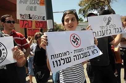 הפגנת המחאה ביום שישי (צילום: ירון ברנר)