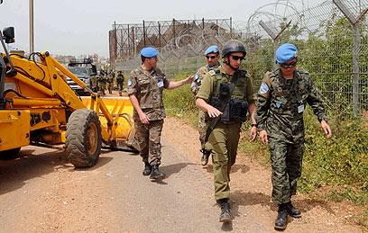 """המהלך מתואם עם כוח יוניפי""""ל של האו""""ם (צילום: אביהו שפירא)"""