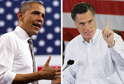 Seeking Jewish vote (Obama, Left) and Romney (Photo: AP)