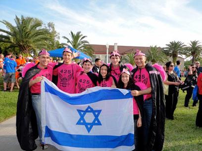 נבחרת התלמידים מיהוד-מונסון. הכחול-לבן שולט (צילום: אבי אוסטפלד)
