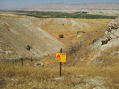 שדות המוקשים. 60 אחוז המשטח נוקה (צילום: יואב זיתון)