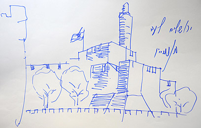 """מגדל דוד לפי נתניהו  (צילום: אבי אוחיון, לע""""מ)"""