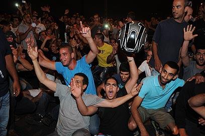 ההפגנה בתל אביב (צילום: ירון ברנר)