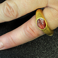 Ring with precious stone Photo: Antiquities Authority
