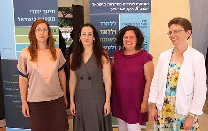 מימין: מירה חובב, גלית כהן, טלי אבנון-בנבנישתי, גליה קן (צילום: עידו ארז)