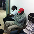Detained migrants in Eilat Photo courtesy of Immigration Authority