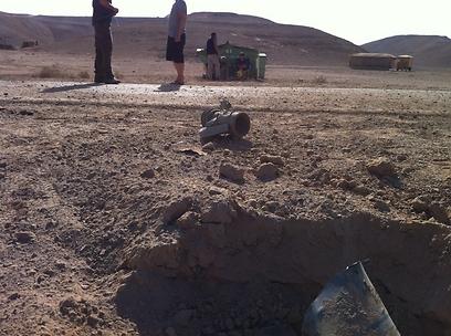 הגראד שנמצא אתמול באזור עובדה (צילום: דותן הלברייך)