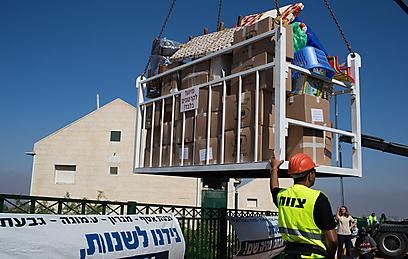 פינוי גבעת האולפנה בחודש יוני (צילום: אוהד צויגנברג)