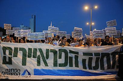 """""""מחנה פראיירים"""" מורחב, הערב בתל אביב (צילום: ירון ברנר)"""