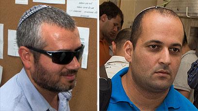 יקותיאל ופרץ, שהורשעו בהפקרתו של אבו ג'ריבאן (צילום: אוהד צויגנברג)