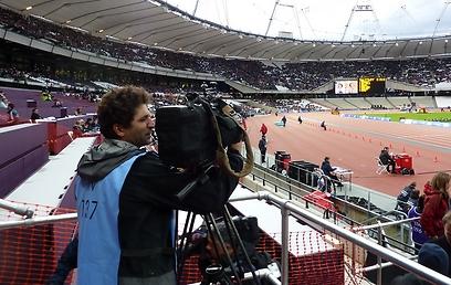 """רומנו באצטדיון האולימפי. קרוי על שמו של מרים המשקולות ז""""ל (צילום: מודי קרייטמן)"""